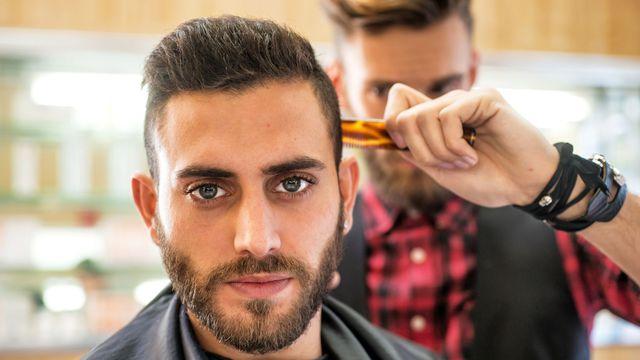 coiffure homme a la cire