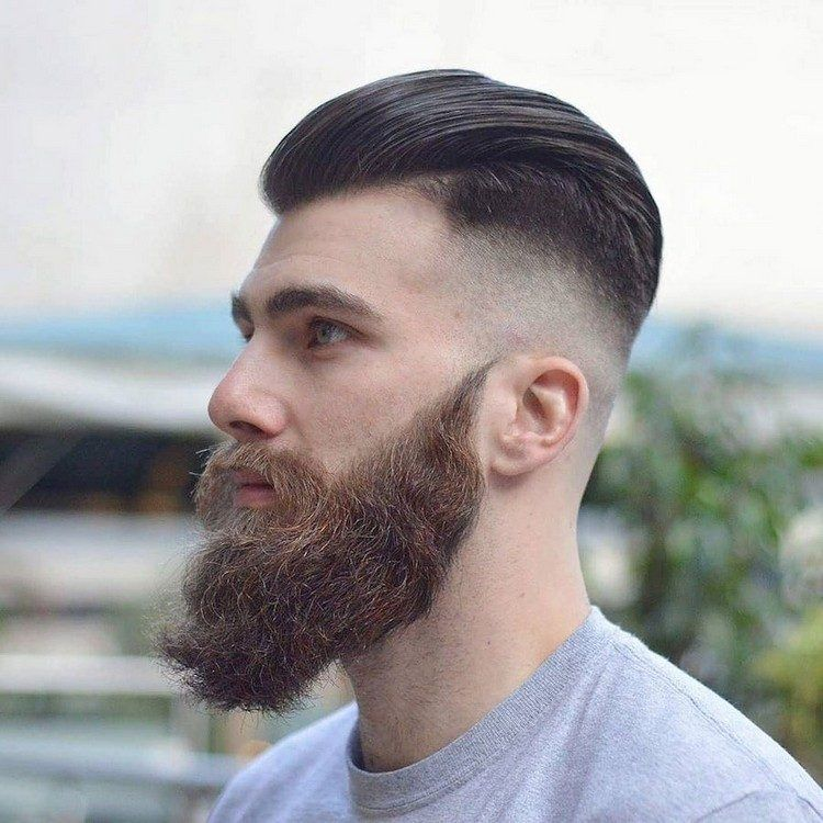 coiffure homme avec barbe