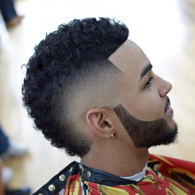 coiffure homme black