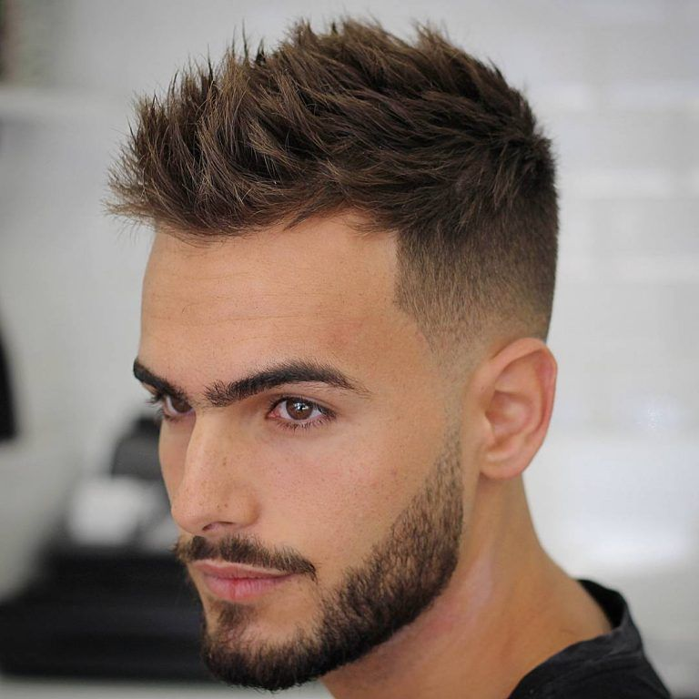 coiffure homme degrade haut