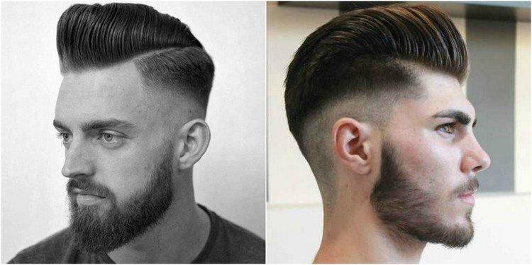 coiffure homme degrade long
