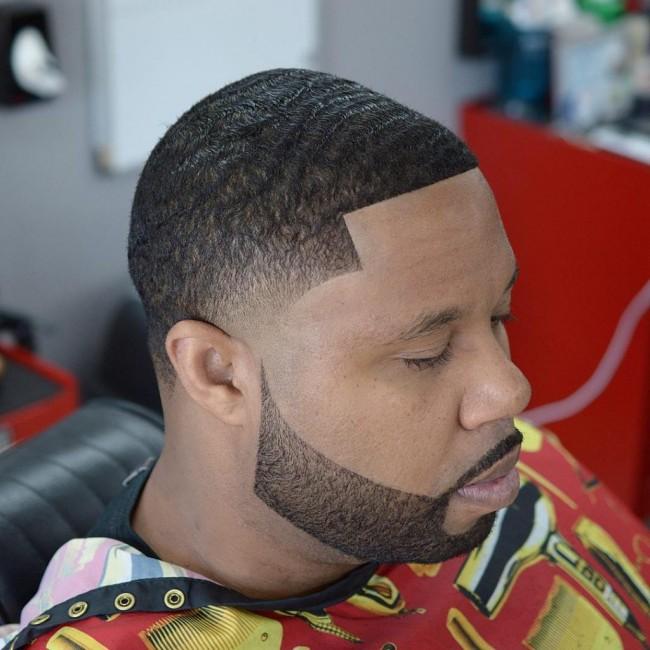 coiffure homme degrade noir