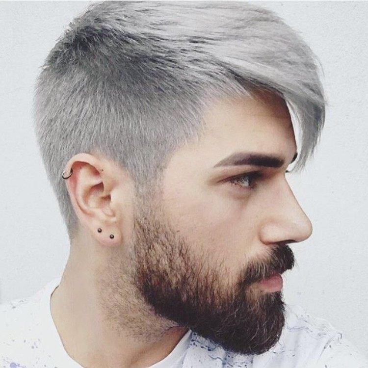 coiffure homme gris
