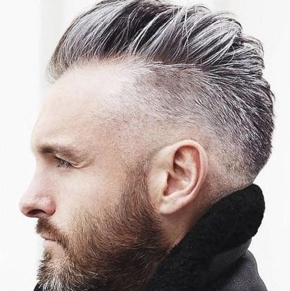 coiffure homme grisonnant