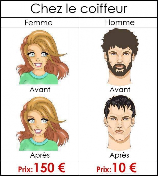 coiffure homme humour