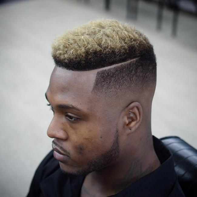 coiffure homme noir avec teinture