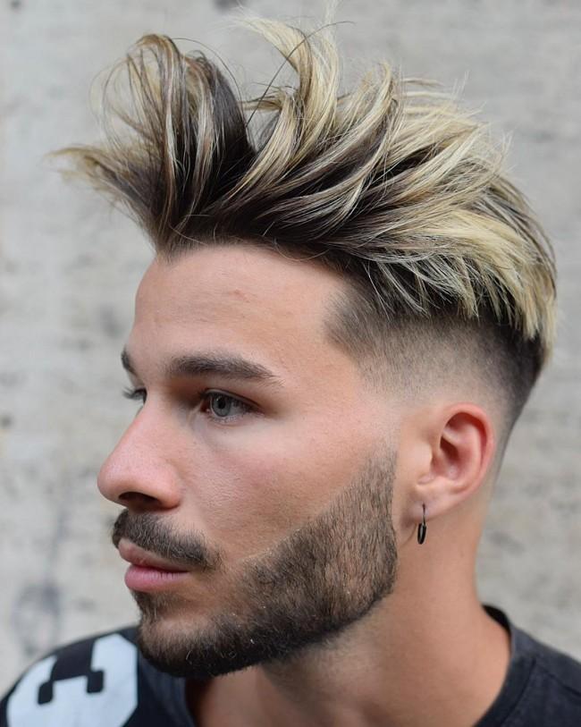 coiffure homme teinture blond
