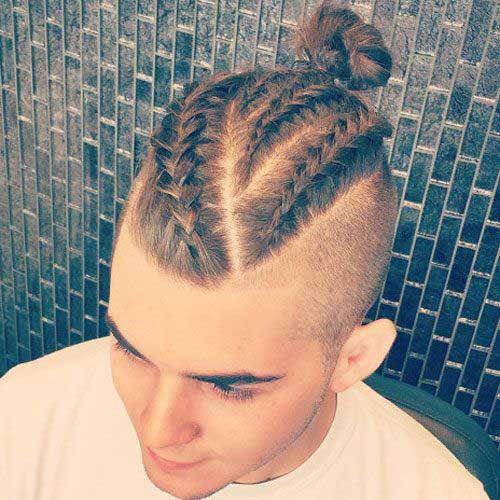 coiffure homme tresse