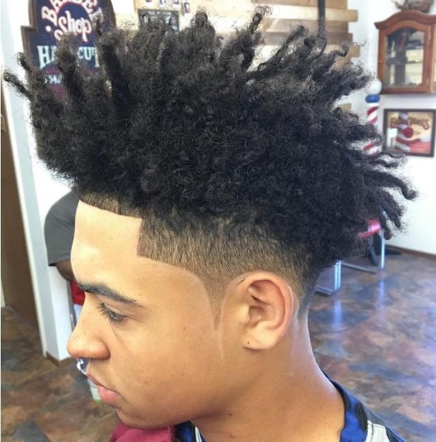 coiffure homme vanille