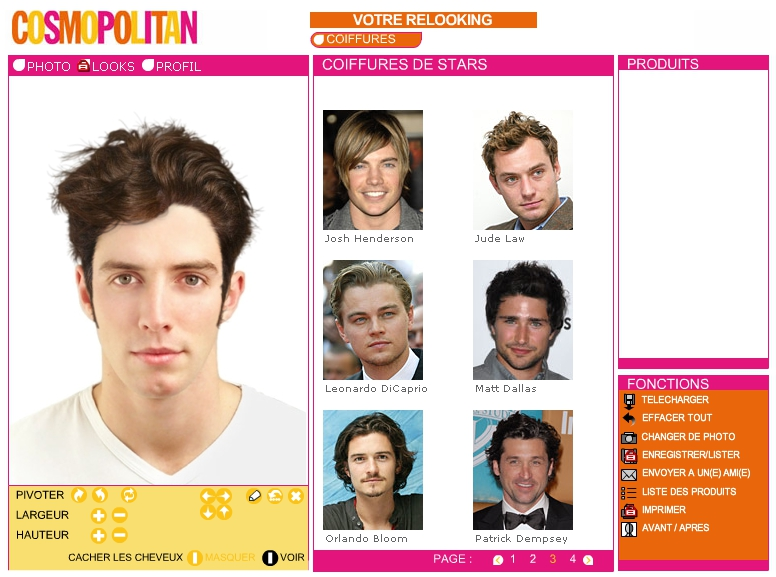 coiffure homme virtuelle