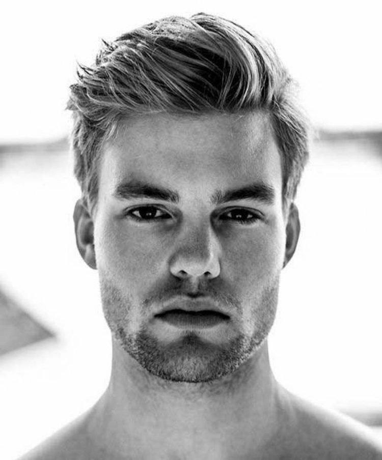 coiffure homme visage rond 2018
