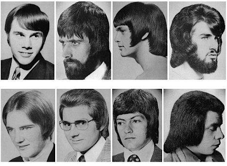 coupe de cheveux homme 1970