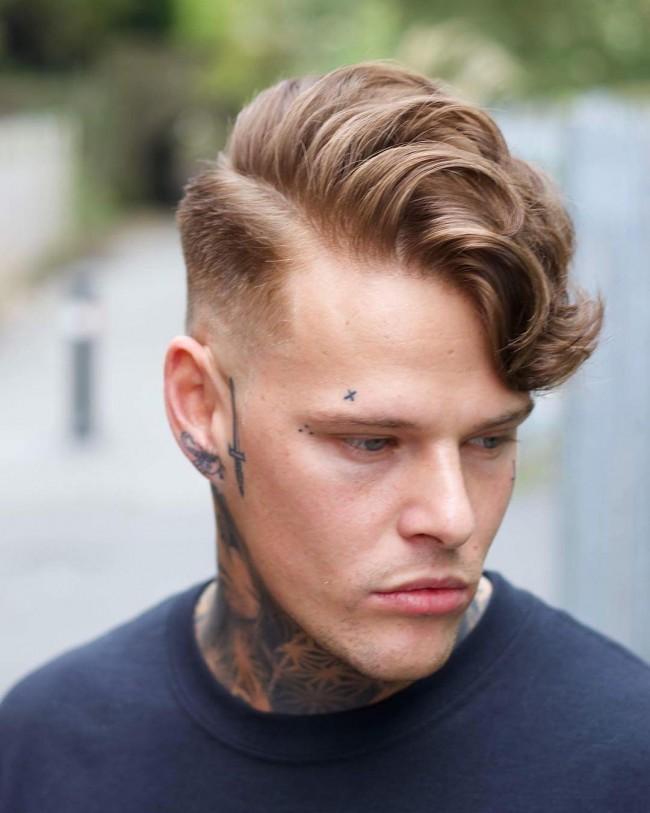 coupe de cheveux homme 2018 blond