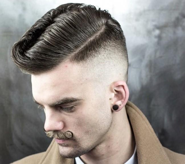 coupe de cheveux homme au rasoir