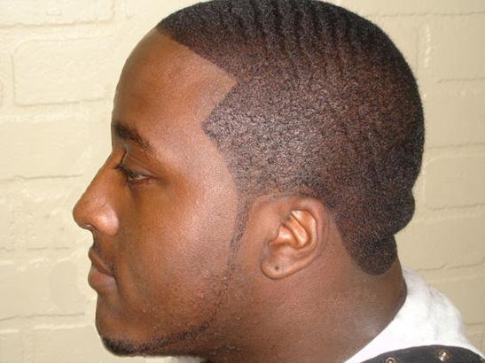 coupe de cheveux homme black