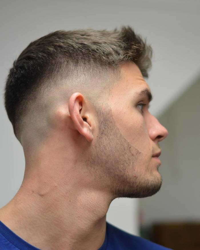 coupe de cheveux homme court chatain