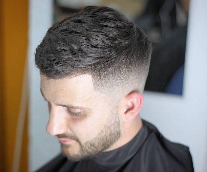 coupe de cheveux homme court degrade