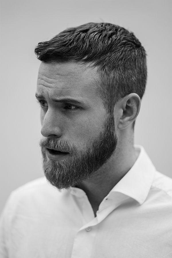 coupe de cheveux homme court et barbe