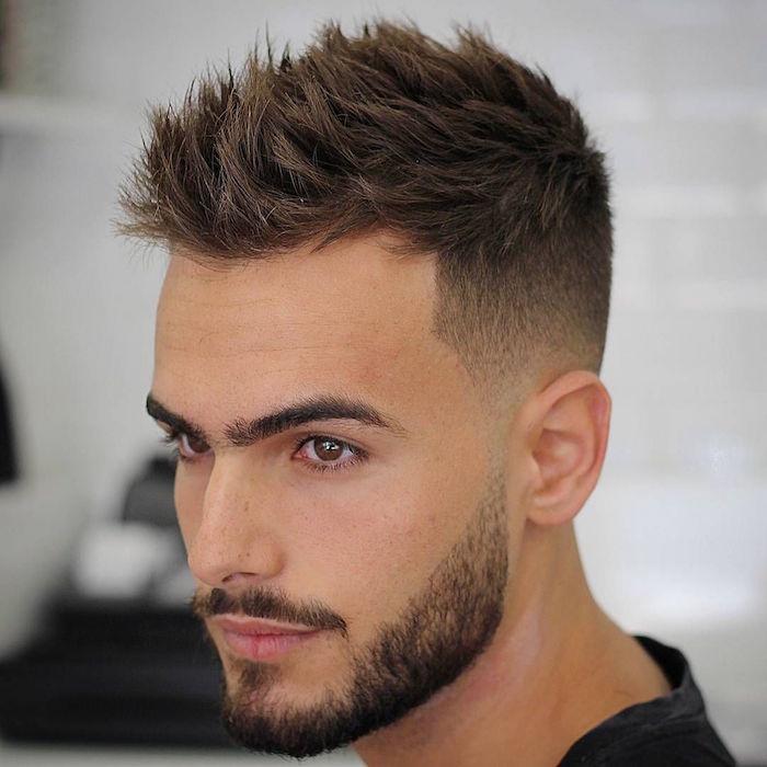 coupe de cheveux homme court fondu