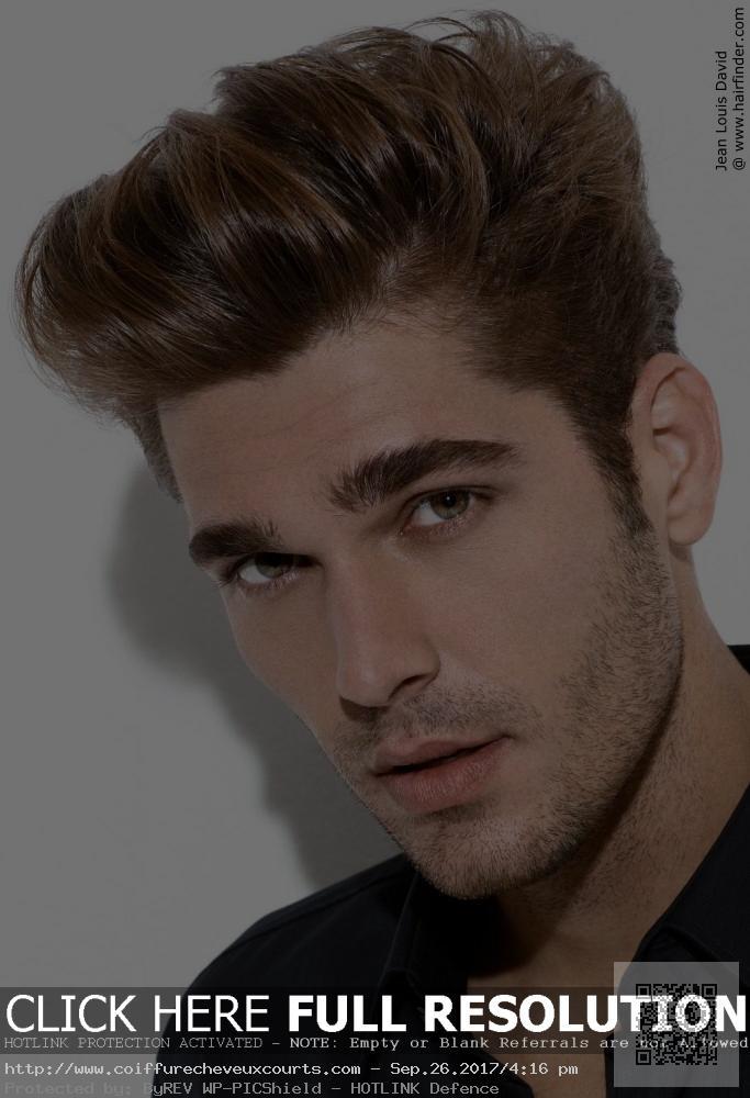 coupe de cheveux homme court sans gel