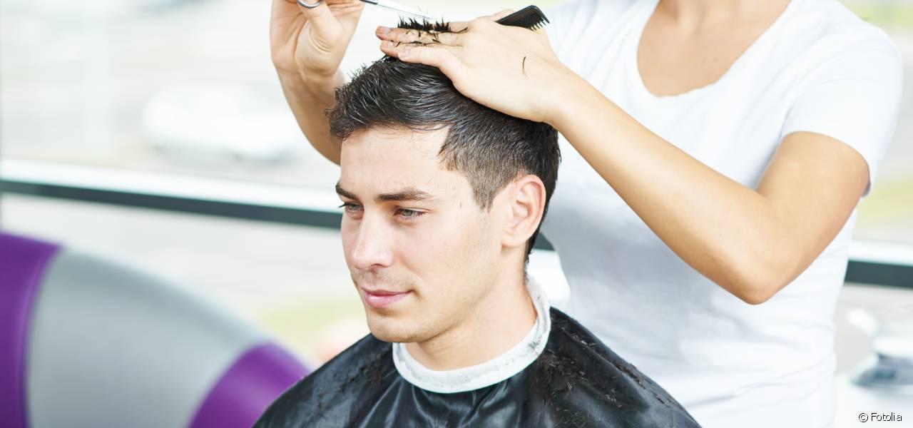 coupe de cheveux homme court sec
