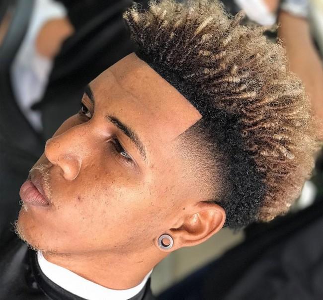 coupe de cheveux homme court teinture