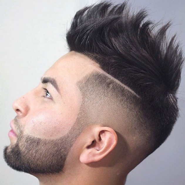 coupe de cheveux homme degrade avec trait