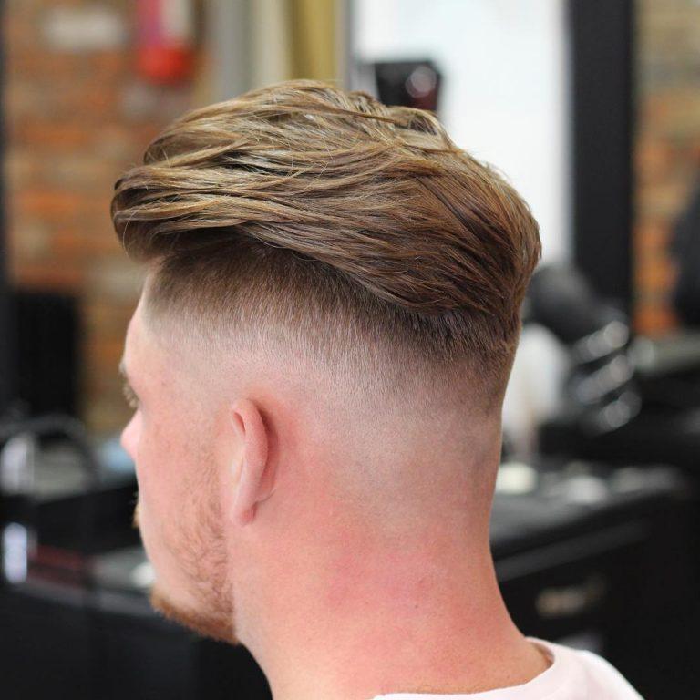 coupe de cheveux homme degrade blond