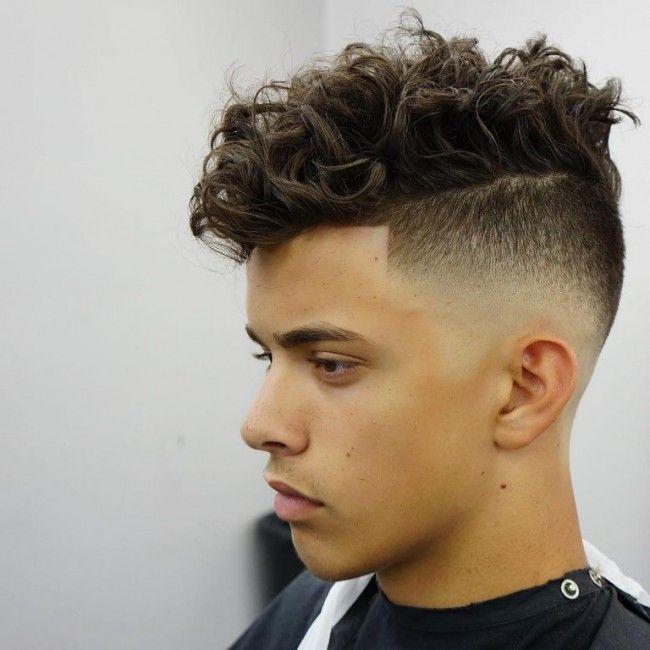 coupe de cheveux homme frise degrade