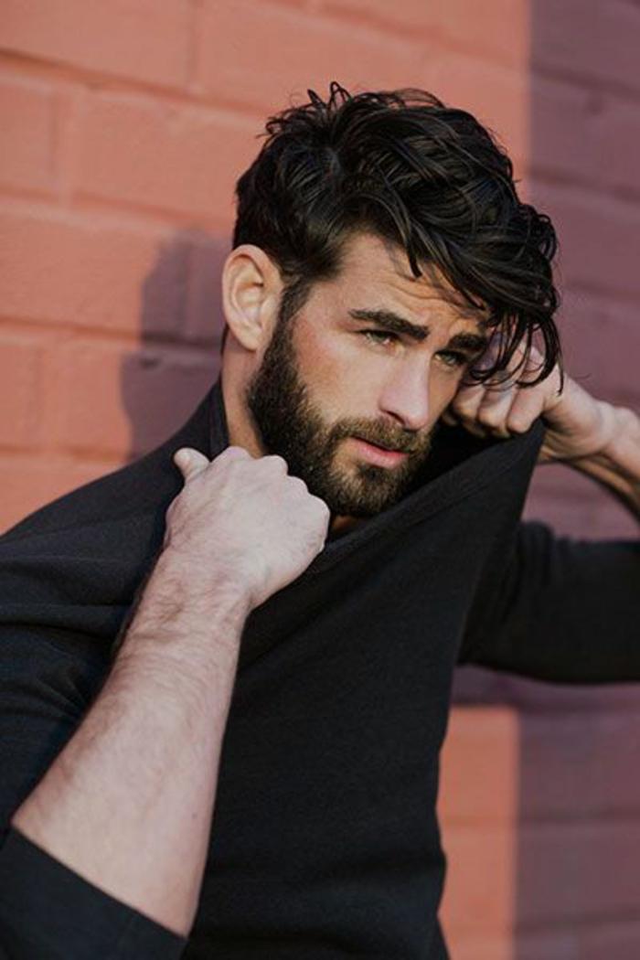 coupe de cheveux homme long frise