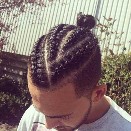 coupe de cheveux homme natte