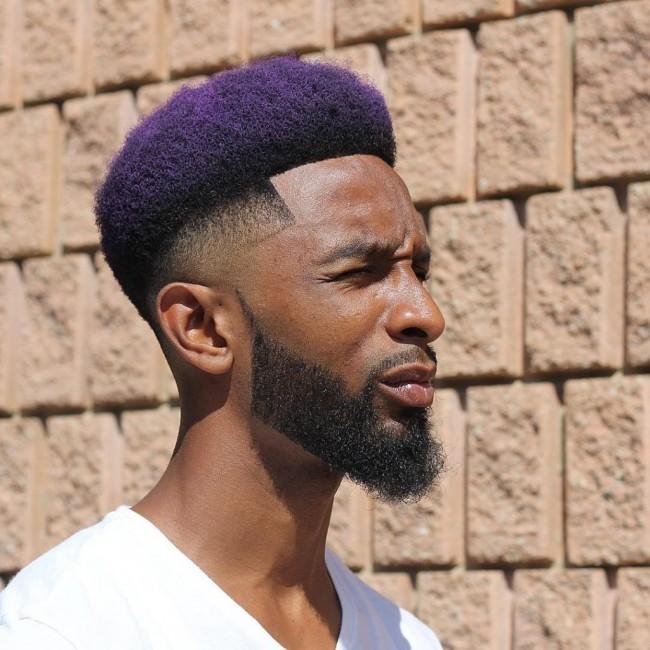 coupe de cheveux homme noir avec teinture