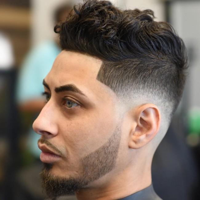 coupe de cheveux homme ondule