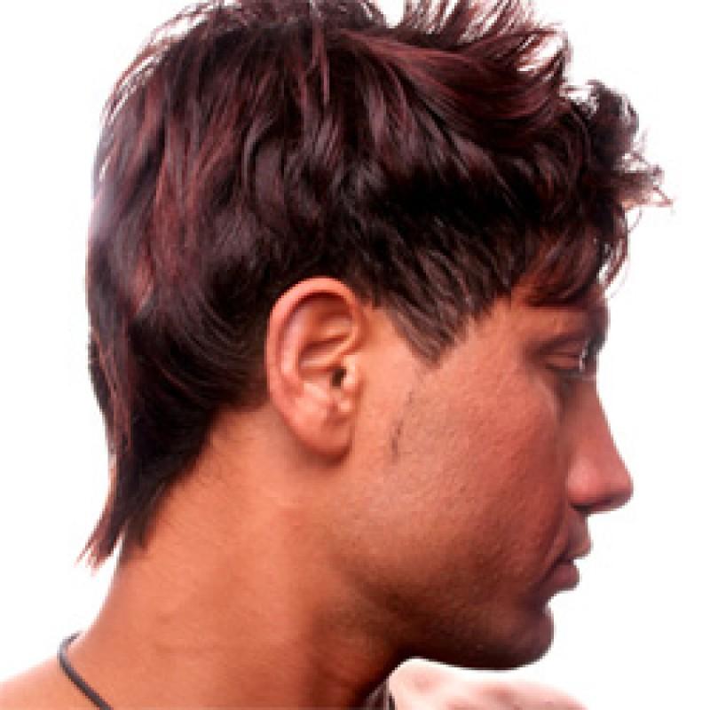 coupe de cheveux homme rouge