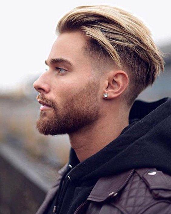 coupe de cheveux homme teinture blond