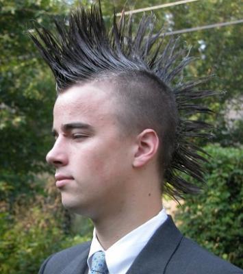 coiffure homme punk