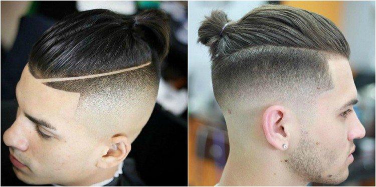 coiffure homme queue de cheval rase