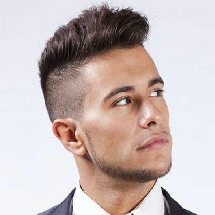 coiffure homme semi court