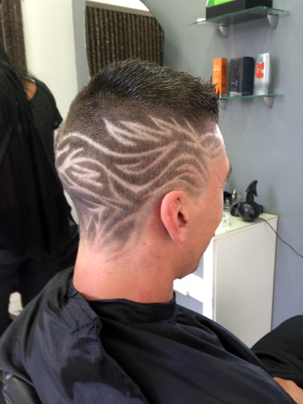 coiffure homme tribal