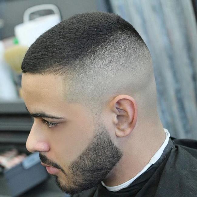 coupe de cheveux homme degrade blanc