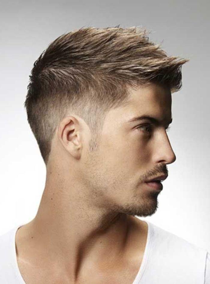 coupe de cheveux homme simple court